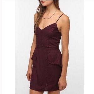 Urban Outfitters Kimchi Blue purple peplum dress